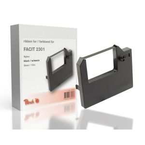 Peach Facit 2301, bk, Nylon, 8mm/12m, Ribbon