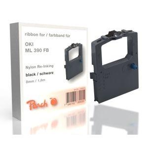 Peach Oki ML 390 FB, bk, Nylon, 8mm/1,8m, Ribbon
