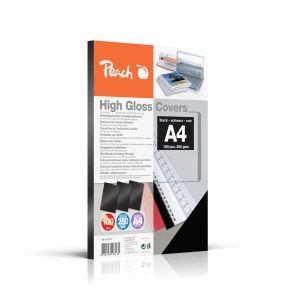 Peach  Einbanddeckel hochglänzend, 250 g/m2, A4, schwarz, 100 Blatt