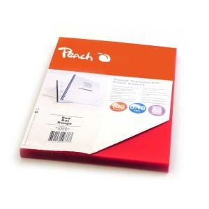 Peach  Klarsicht Einbanddeckel, rot, 0.18mm, A4, 100 Blatt