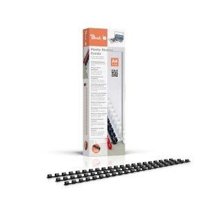 Peach  Binderücken 6mm, für 25 Blatt A4, schwarz, 100 Stück, PB406-02
