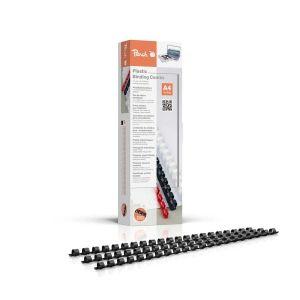 Peach  Binderücken 8mm, für 45 Blatt A4, schwarz, 100 Stück, PB408-02