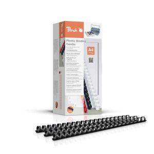Peach  Binderücken 14mm, für je 125 Blatt A4, schwarz, 100 Stück - PB414-02