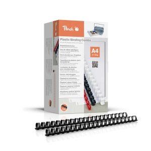 Peach  Binderücken 20mm, für 175 Blatt A4, schwarz, 100 Stück, PB420-02