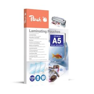 Peach  Laminierfolien A5, 100 mic, glänzend, PP500-03, 100 Stk.