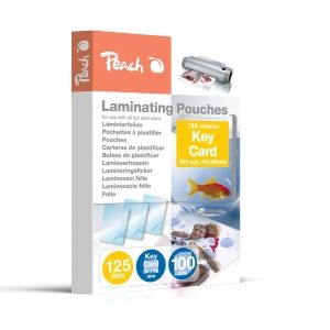 Peach  Laminierfolien Key Card (64x99mm), 125 mic, glänzend, PP525-09, 100 Stk.