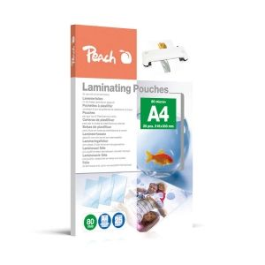 Peach  Laminierfolien A4, 80 mic, glänzend, PPR080-02, 25 Stk.