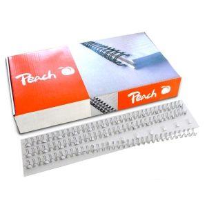 Peach  Drahtbinderücken 12mm, silber, 3:1, 34 Ringe A4, 100 Stk. PW127-01