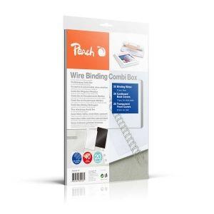Peach  Wire Binding Combi Box - 6mm - PW064-07- 45 Blatt