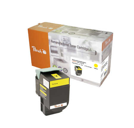 Peach  Tonermodul gelb, kompatibel zu Lexmark C 544 DN