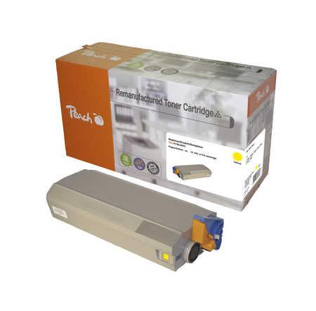Peach  Tonermodul gelb kompatibel zu OKI C 7100