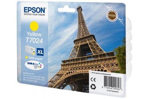 Original  Tintenpatrone XL gelb Epson WorkForce Pro WP-4095 DN