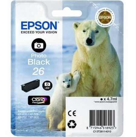 Original  Tintenpatrone foto schwarz Epson Expression Premium XP-700