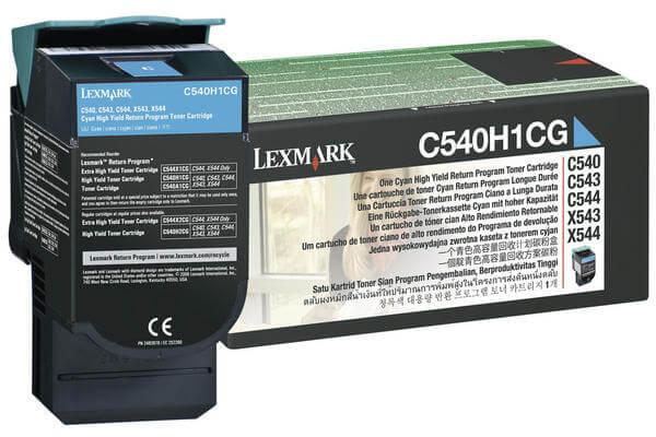 Original  Tonerpatrone cyan Lexmark C 544 DN
