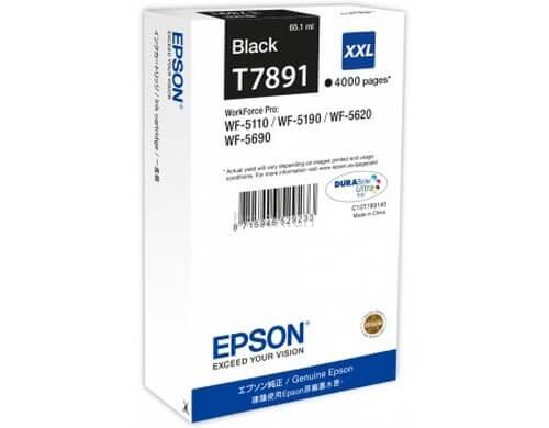 Original  Tintenpatrone XXL schwarz Epson WorkForce Pro WF-5110 DW
