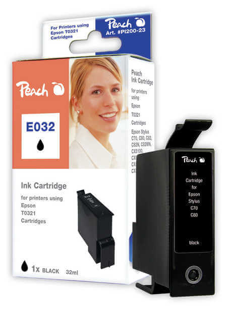 Peach  Tintenpatrone schwarz kompatibel zu Epson Stylus C 82