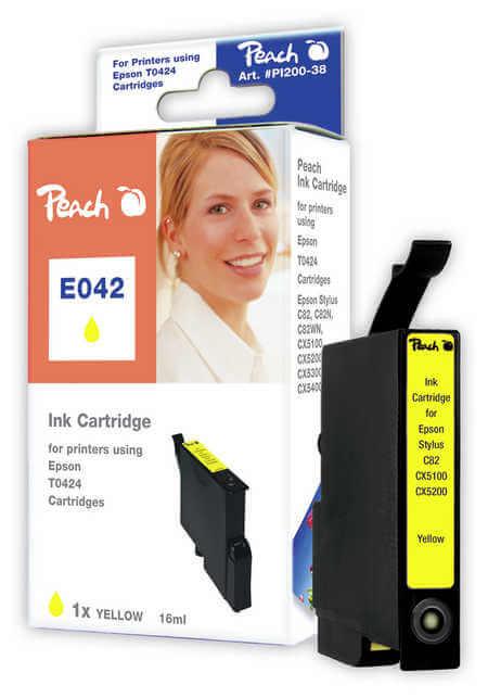 Peach  Tintenpatrone gelb kompatibel zu Epson Stylus C 82