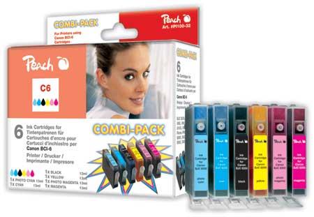 Peach  Spar Pack Tintenpatronen kompatibel zu Canon BJC 8200