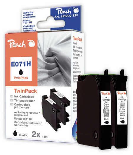 Peach  Doppelpack schwarz kompatibel zu Epson Stylus Office BX 310 FN