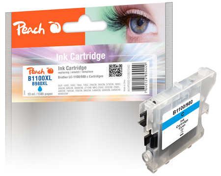 Peach  Tintenpatrone cyan kompatibel zu Brother DCP-163 C