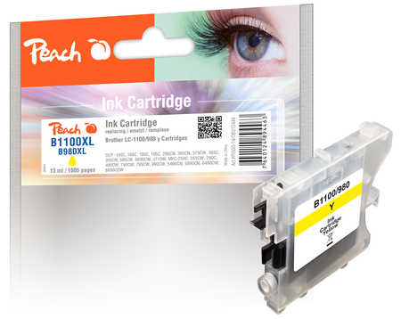 Peach  Tintenpatrone gelb kompatibel zu Brother DCP-163 C
