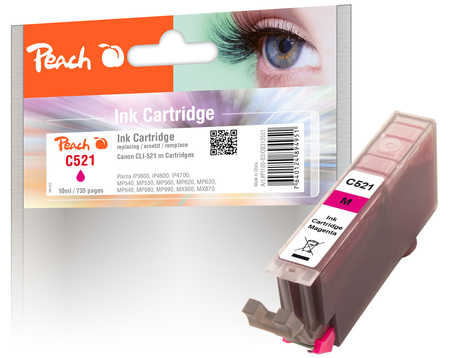 Peach  XL-Tintenpatrone magenta kompatibel zu Canon Pixma MP 620