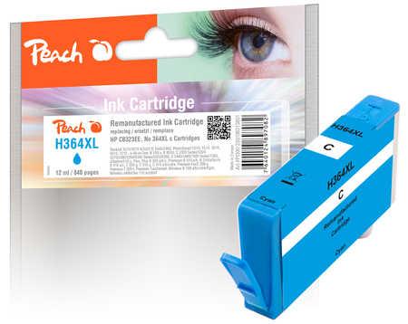 Peach  Tintenpatrone cyan kompatibel zu HP PhotoSmart Premium C 410 Series
