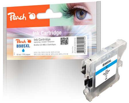 Peach  Tintenpatrone cyan kompatibel zu Brother DCPJ 125
