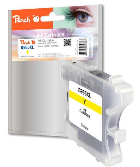 Peach  Tintenpatrone gelb kompatibel zu Brother DCPJ 125