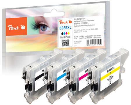 Peach  Spar Pack Tintenpatronen kompatibel zu Brother DCPJ 125