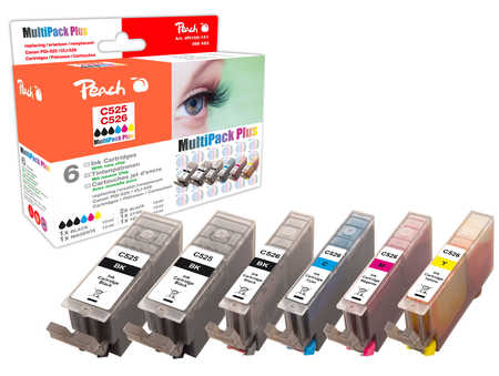 Peach  Spar Pack Plus Tintenpatronen, XL-Ergiebigkeit, kompatibel zu Canon Pixma MG 5150