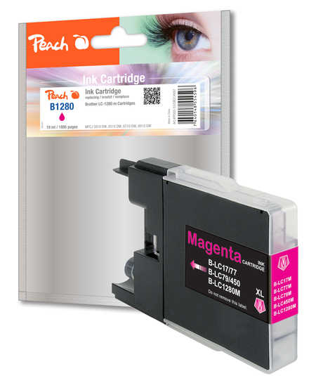 Peach  XL-Tintenpatrone magenta kompatibel zu Brother MFCJ 6510 DW