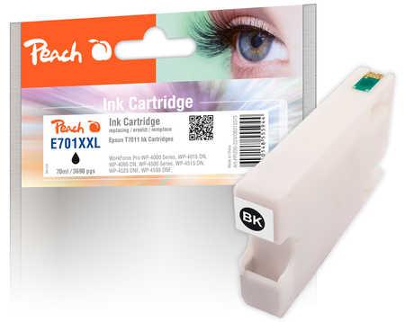 Peach  XL-Tintenpatrone schwarz kompatibel zu Epson WorkForce Pro WP-4095 DN