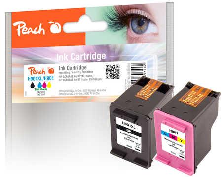 Peach  Spar Pack Druckköpfe kompatibel zu HP OfficeJet J 4540