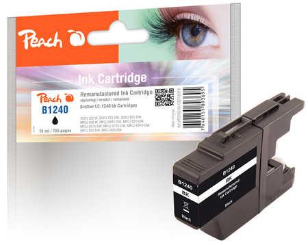 Peach  Tintenpatrone schwarz kompatibel zu Brother MFCJ 6510 DW