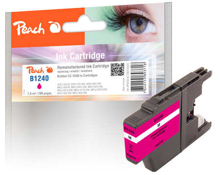 Peach  Tintenpatrone magenta kompatibel zu Brother MFCJ 6510 DW