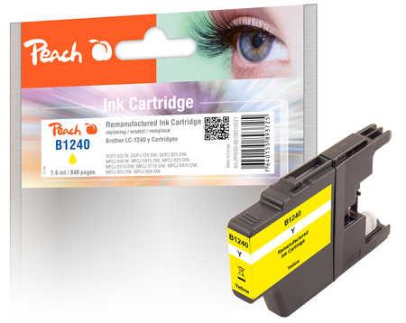 Peach  Tintenpatrone gelb kompatibel zu Brother MFCJ 6510 DW