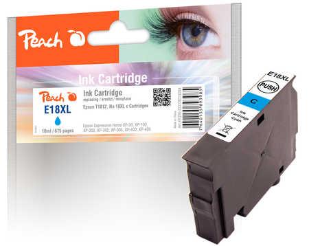 Peach  Tintenpatrone cyan kompatibel zu Epson Expression Home XP-302