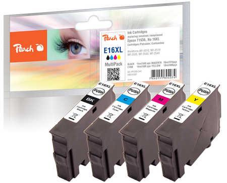 Peach  Spar Pack Tintenpatronen kompatibel zu Epson WorkForce WF-2530 WF