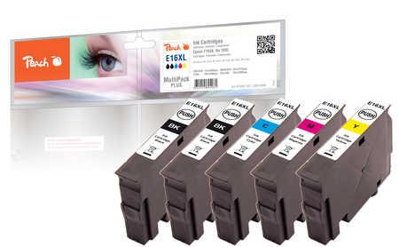 Peach  Spar Pack Plus Tintenpatronen, kompatibel zu Epson WorkForce WF-2530 WF