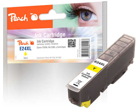 Peach  Tintenpatrone HY gelb kompatibel zu Epson Expression Photo XP-950