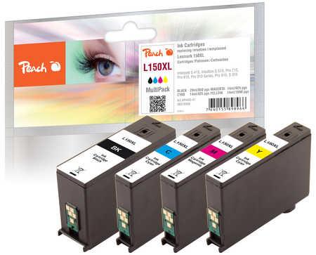 Peach  Spar Pack Tintenpatronen, XL-Ergiebigkeit, kompatibel zu Lexmark Interpret S 415
