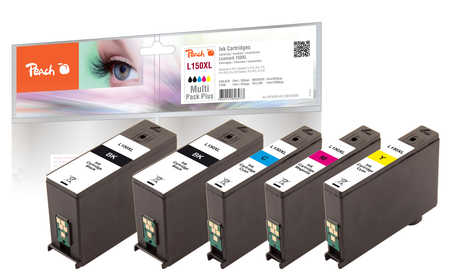 Peach  Spar Plus Pack Tintenpatronen, XL-Ergiebigkeit, kompatibel zu Lexmark Interpret S 415