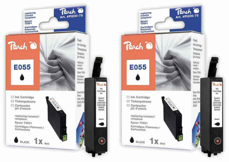 Peach  Doppelpack Tintenpatronen schwarz kompatibel zu Epson Stylus Photo RX 420