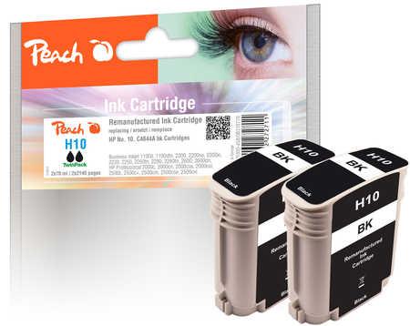 Peach  Doppelpack Tintenpatronen schwarz kompatibel zu HP DesignJet 500 E