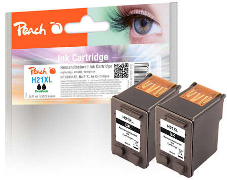 Peach  Doppelpack Druckköpfe schwarz kompatibel zu HP OfficeJet 4625