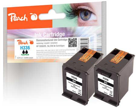 Peach  Doppelpack Druckköpfe schwarz kompatibel zu HP PSC 1510