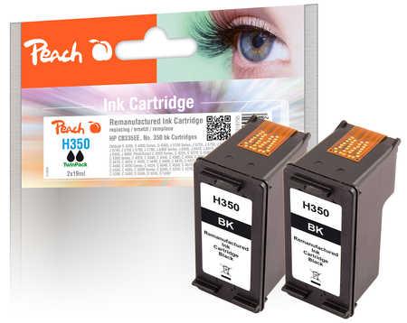 Peach  Doppelpack Druckköpfe schwarz kompatibel zu HP OfficeJet J 5780