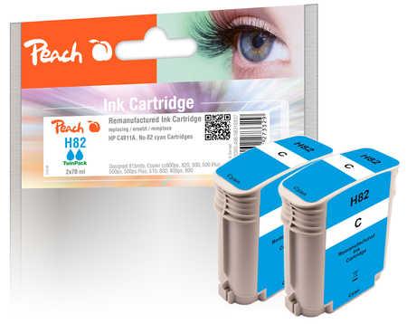 Peach  Doppelpack Tintenpatronen cyan kompatibel zu HP DesignJet 500 E