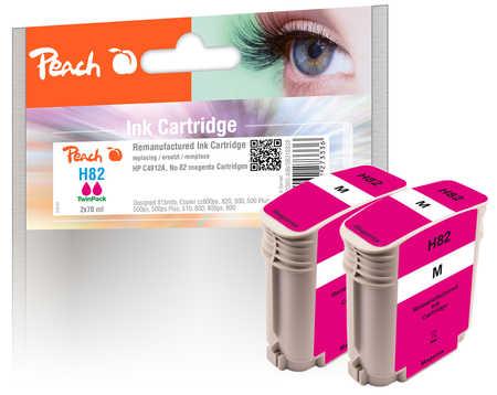 Peach  Doppelpack Tintenpatronen magenta kompatibel zu HP DesignJet 500 E